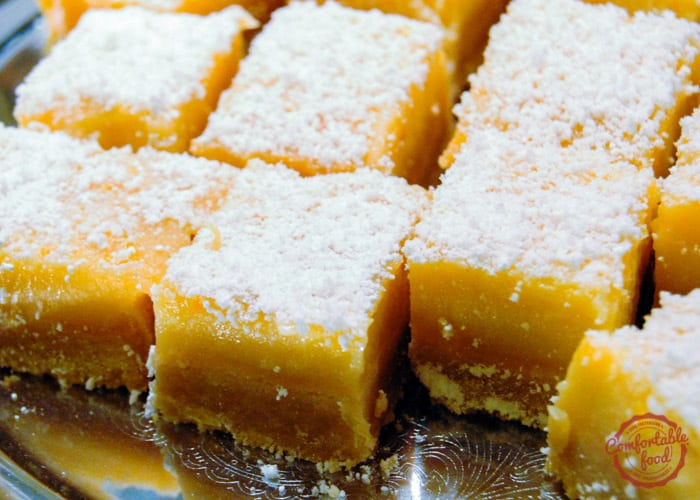 Light and zesty lemon bar recipe.
