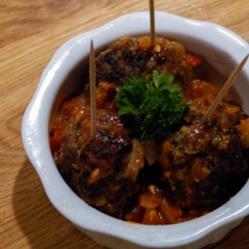 A recipe for Albondigas - traditional Spanish meatballs.