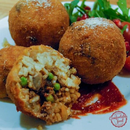 Arancini - Traditional Sicilian Risotto Ball Recipe.