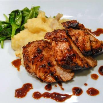 Marinated pork tenderloin with honey lime chipotle