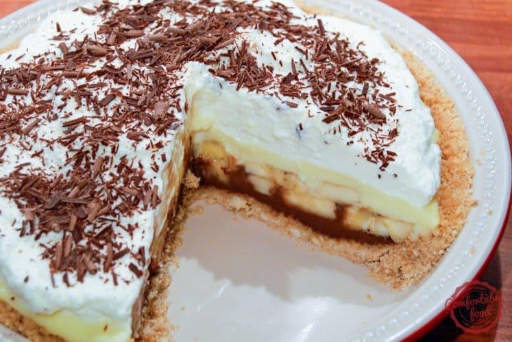 A chocolate bottomed banana cream pie recipe.