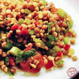 Couscous Salad with Chopped Vegetables, Mint and Cilantro 2