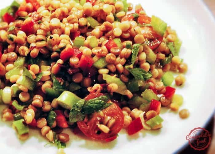 Couscous Salad with Chopped Vegetables, Mint and Cilantro 1