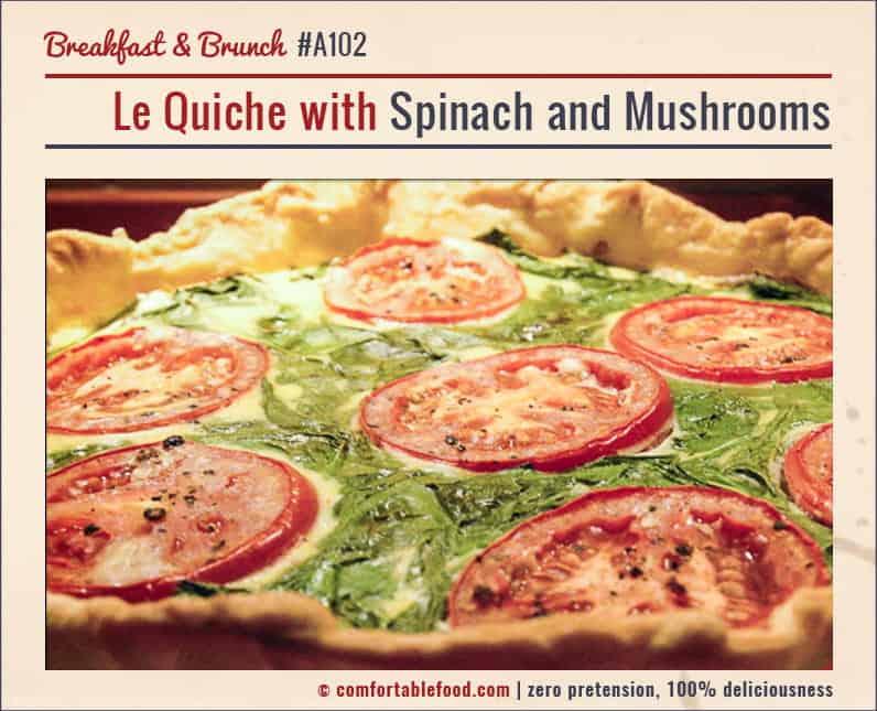 Bacon, Mushroom and Shallot Quiche & Video 1