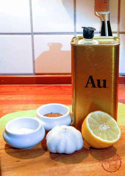 lemon garlic vinaigrette