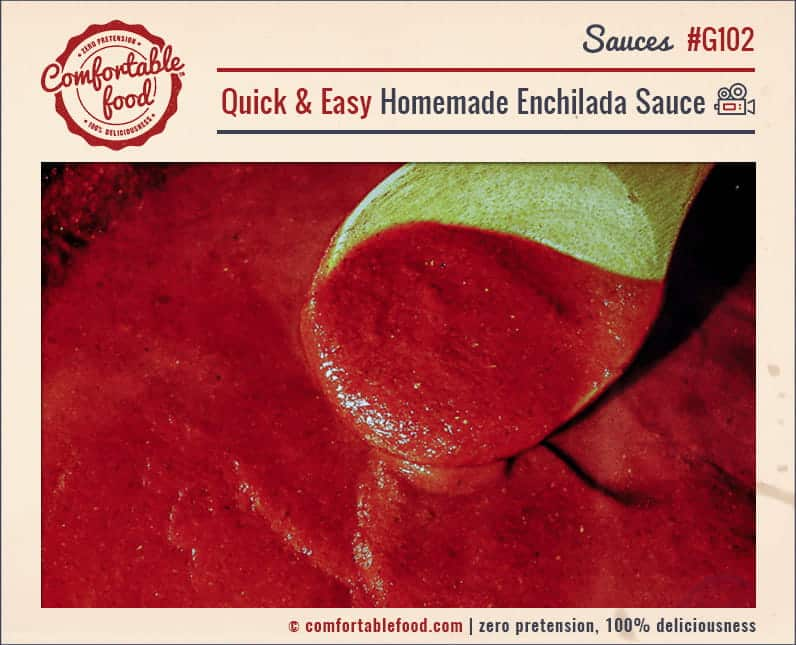 This Homemade Enchilada Sauce is super easy to make and SO good!
