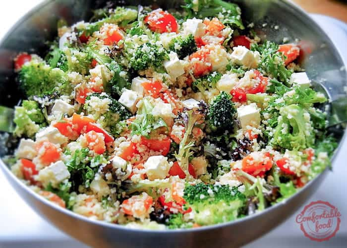 Chopped Vegetable Salad With Lemon-Garlic Dressing Recipe — Dishmaps