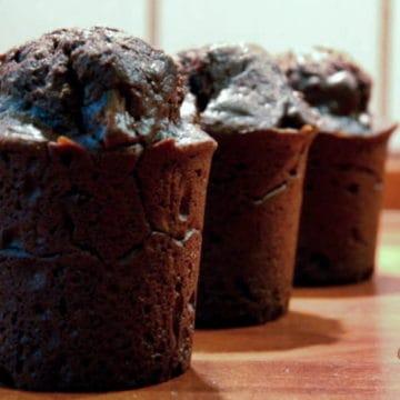 Very chocolatey brownie muffins1