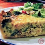 Broccoli Shallot Cheddar Quiche