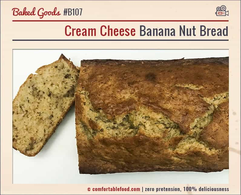 A recipe for the Best Cream Cheese Banana Bread.
