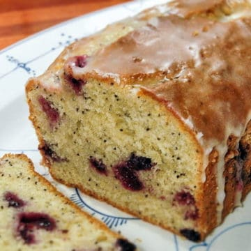 Tart and sweet - this Lemon Blueberry Pound Cake recipe is deliciousness.