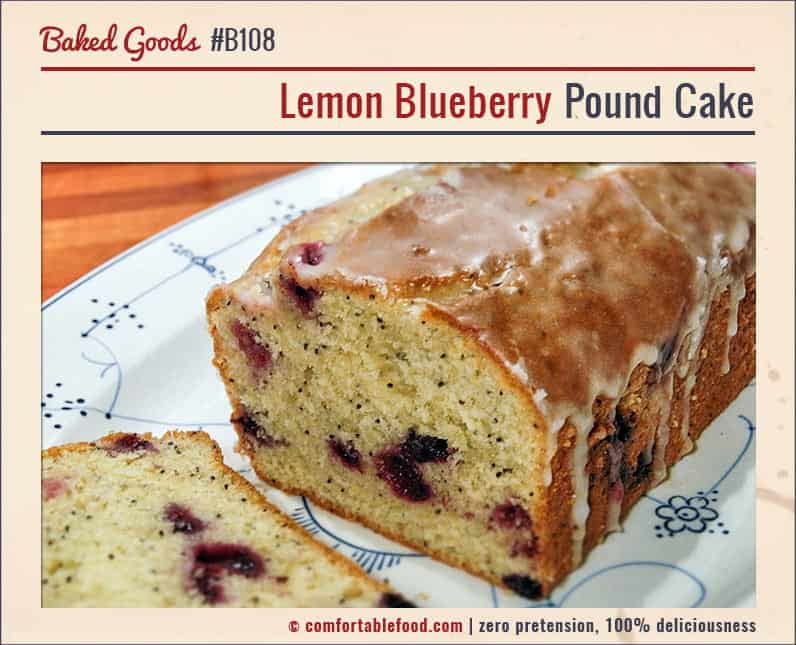 This Lemon Blueberry Pound Cake is gonna make it EASY to get out of bed!