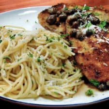 Light and flavorful, zesty eggplant piccata recipe.