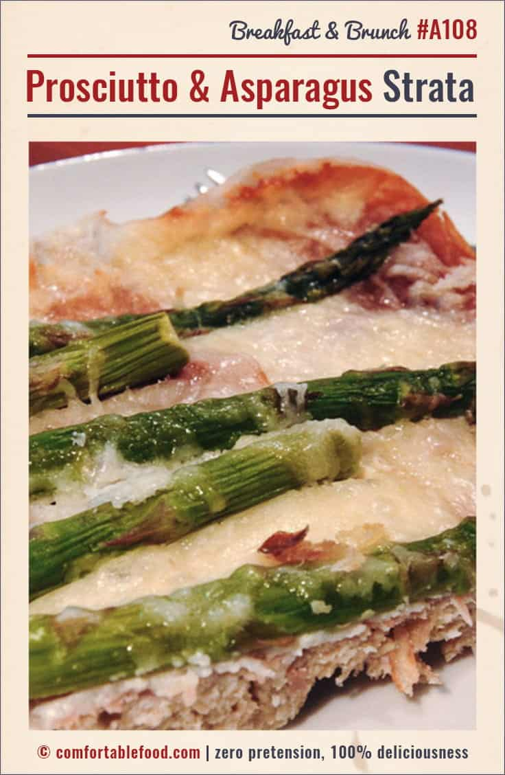 A recipe for classic, simple Prosciutto and Asparagus Strata.