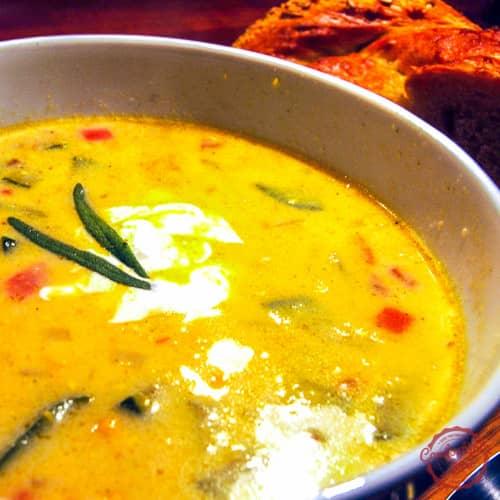 spicy and delicious corn soup recipe