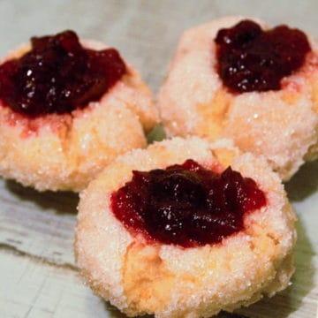 Cranberry orange thumbprint cookies