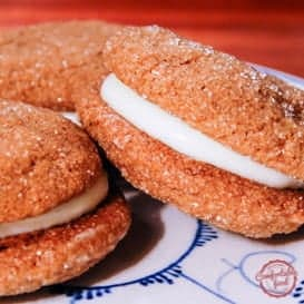 Sandwiched Ginger Snaps with Lemon Cream Cheese Filling 4