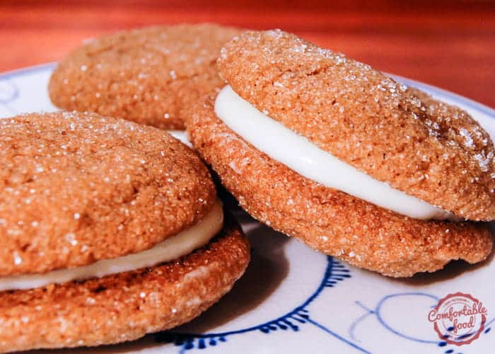 Sandwiched Ginger Snaps with Lemon Cream Cheese Filling 1