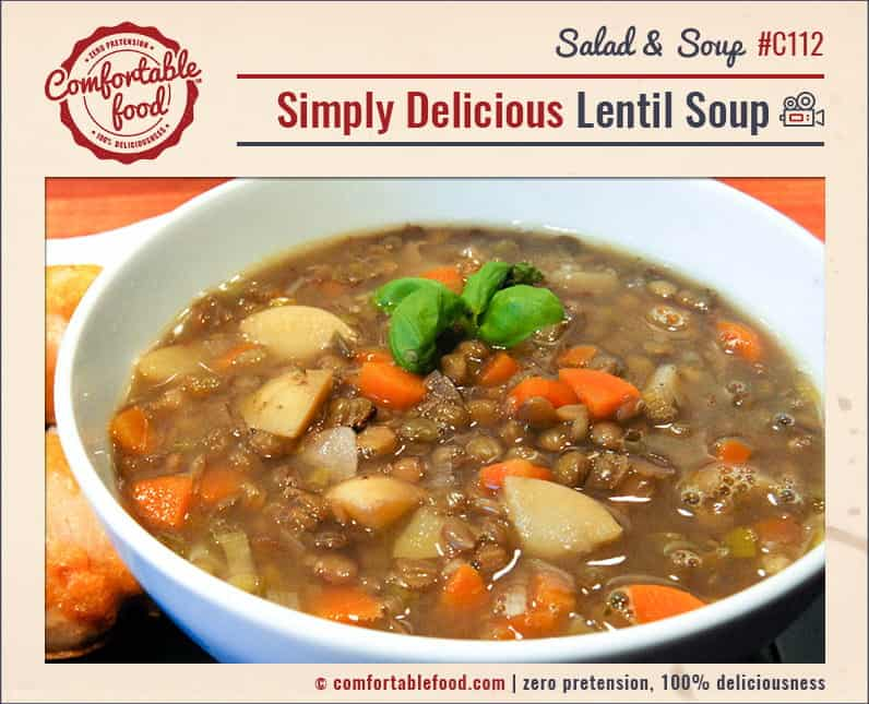 An easy, delicious recipe for lentil soup