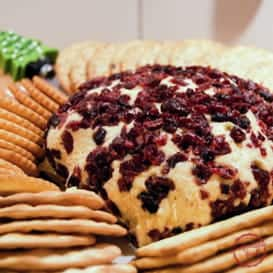 Cheddar and Cranberry Cheese Ball 3