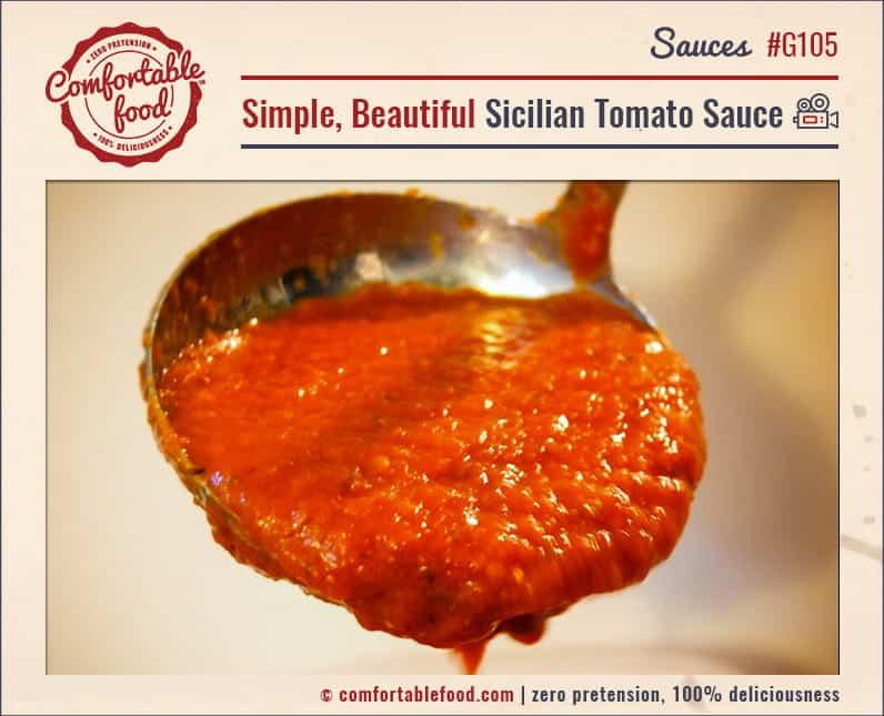 An easy Italian tomato sauce recipe.