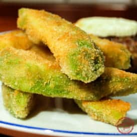 Light and crispy avocado fries.