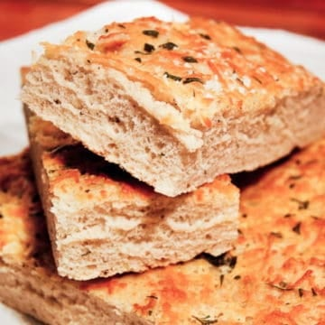 Foccacia with herbs and parmesan