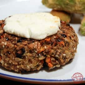 Super Hearty Quinoa Veggie Burger 4