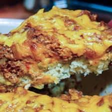 A bbq chicken cornbread pie recipe from comfortable food