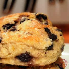 Blueberry buttermilk breakfast biscuits thumb
