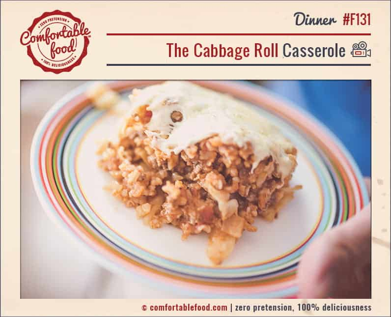 This Cabbage Roll Casserole is so easy to make and it's ridiculously delicious!