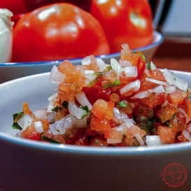 Easy Mexican Salsa Fresca (Pico de Gallo) 4