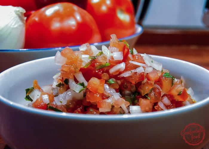 Super simple, delicious Salsa Fresca.