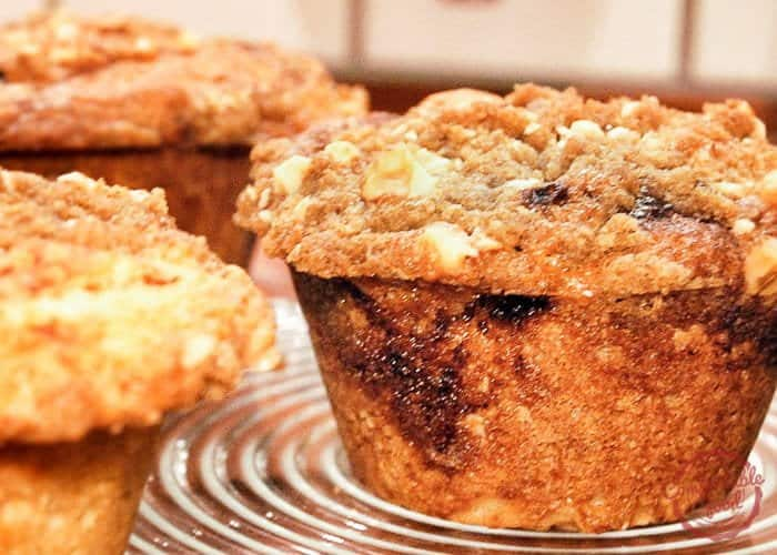 comfortable food - sour cream coffee cake muffins