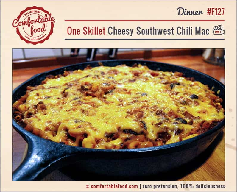 One Skillet Cheesy Southwest Chili Mac with Video 1