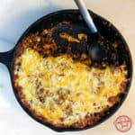 One Skillet Cheesy Southwest Chili Mac with Video