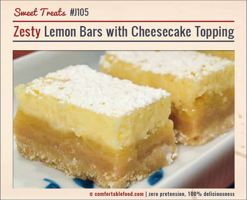 Tart Lemon Bars topped with a sweet, creamy Cheesecake layer.