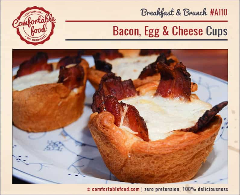 These Bacon, Egg and Cheese Cups are a simple, beautiful, delicious breakfast idea for any day of the week.