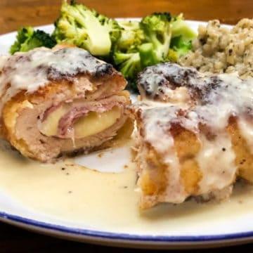 Chicken Cordon Bleu with Parmesan Dijon Sauce from Comfortable Food.