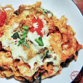 Quick and Easy Chicken Caprese Pasta Bake 2