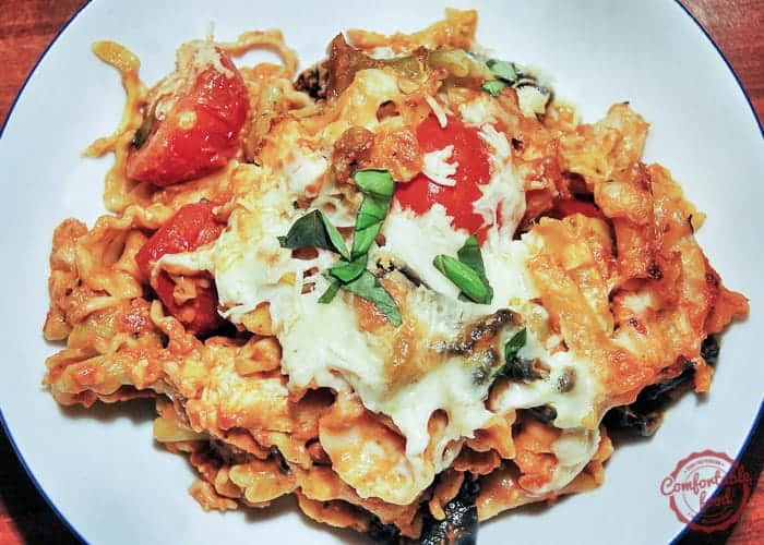 Quick and Easy Chicken Caprese Pasta Bake 1