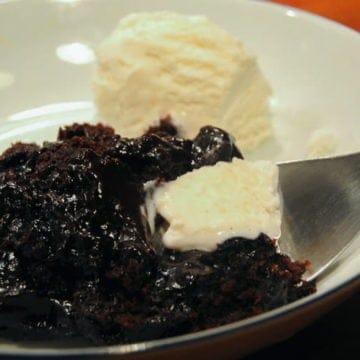 An easy chocolate pudding cake recipe.