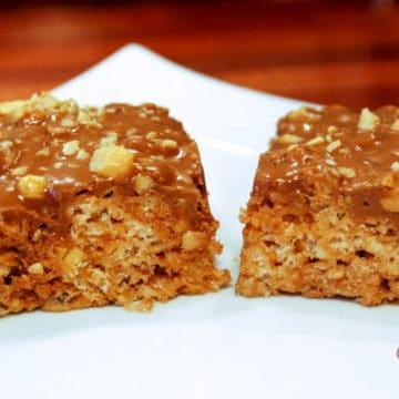 Snickers rice krispie treats