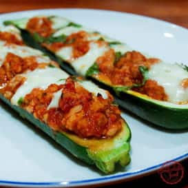 Stuffed Zucchini Boats with Chicken and Mozzarella 4