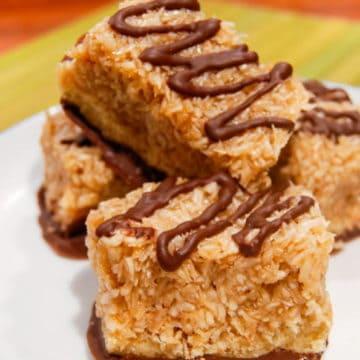 This salted caramel samoa bars