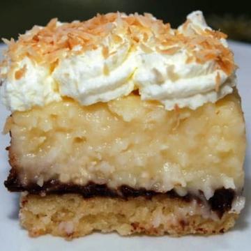 Coconut cream pie and chocolate bars