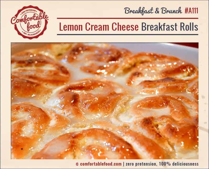 A recipe for sweet, tart Lemon Cream Cheese Breakfast Rolls.