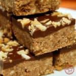 No Bake Crispy Chocolate Peanut ButterBars
