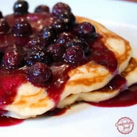 These Sour Cream Pancakes are rich and dense, while at the same time light and fluffy. Delicious.