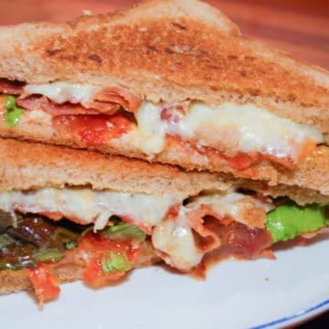 Grilled Cheese with Bacon, Lettuce and Tomato.